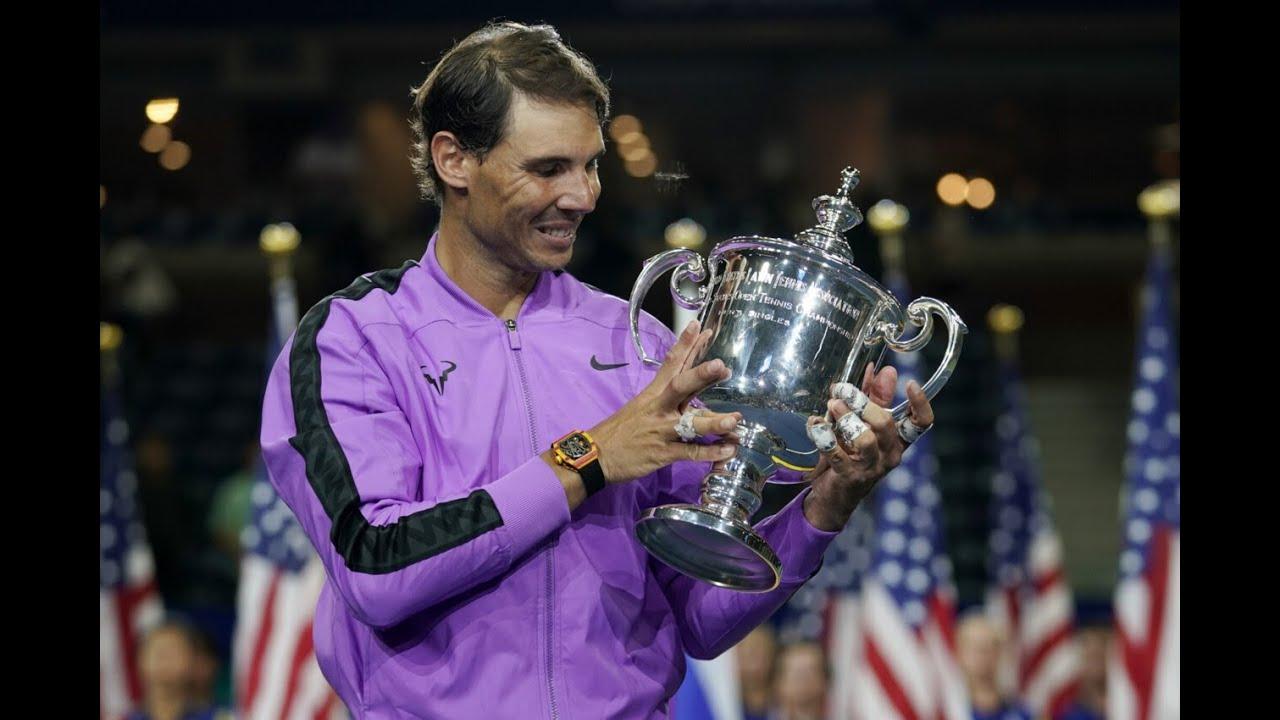 US Open 2019 men's singles trophy presentation