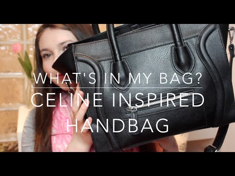 What's In My Bag? Celine Inspired Handbag ♡