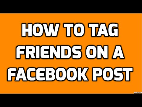 how to tag friends on facebook - Tutorial