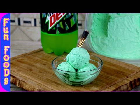 Mountain Dew Ice Cream | How to Make Homemade Mtn Dew Ice Cream no machine