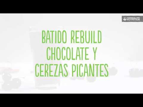 Batido Rebuild Chocolate y Cerezas Picantes