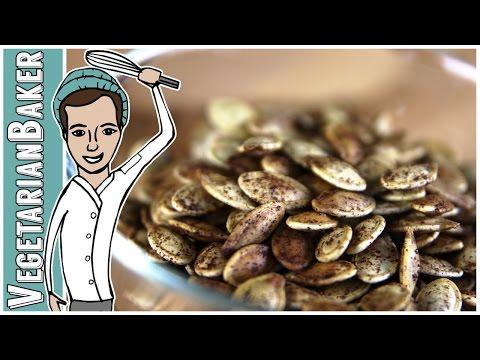 How To Make Pumpkin Spiced Roasted Pumpkin Seeds   The Vegetarian Baker