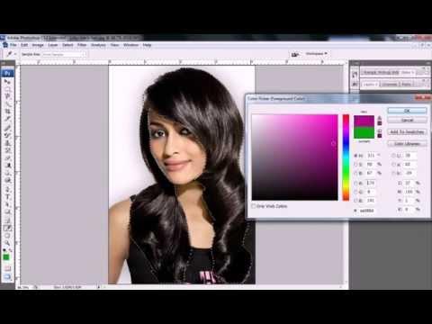How to change Hair Color in photoshop cs3, cs4, cs5