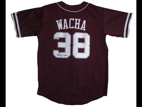 Michael Wacha Autographed Texas A&M Baseball Jersey - TRISTAR COA