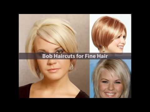 Short stacked haircuts for fine hair