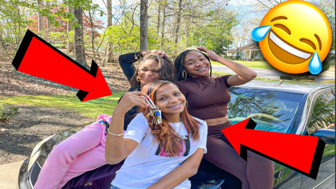 DELINA, MYA, AND QUEEN KHAMYRA STOLE IAN CAR!!! (OUR PERSPECTIVE)
