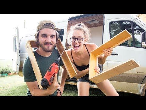 BEGINNERS BUILD DIY CABINETS   campervan conversion