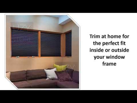 "Paper Pleated Shade 36"" x 72"" Blackout Light Block Black Cordless Window Blind"