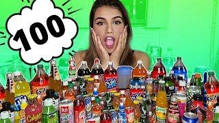 تحدي خلط 100 مشروب مع بعض | خليت الناس تشربة 😅