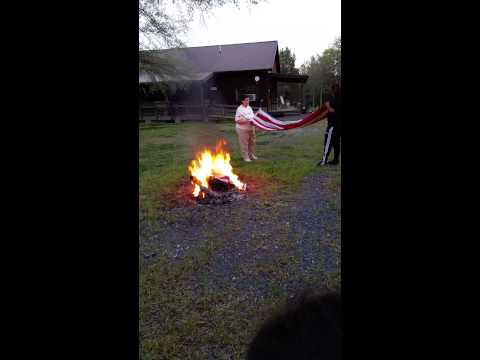 Zoe's flag burning