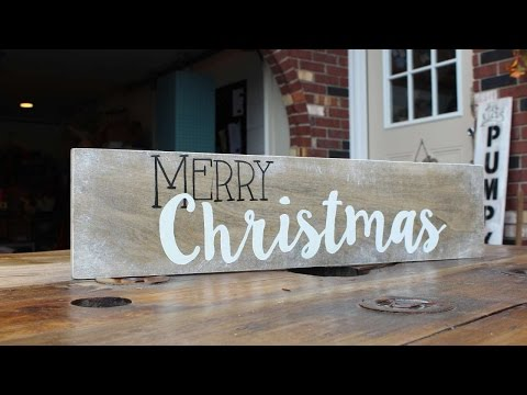 How To Make A Merry Christmas Decor Sign - DIY Home Tutorial - Guidecentral