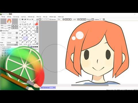 [Tutorial]  Como dibujar en Paint Tool Sai con Mouse y la herramienta Curva.