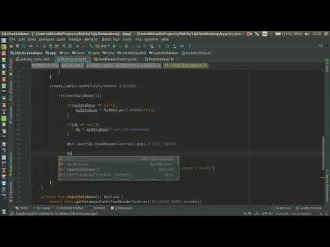 Android Kotlin Usage Tutorial #099 - SQLite - table create,check,delete