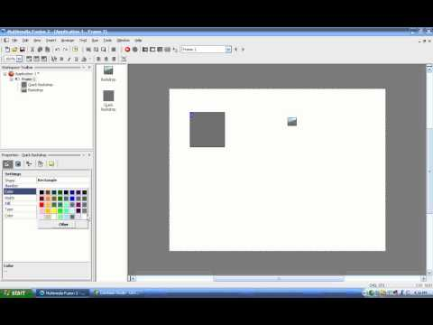 MMF2 Video Tutorial 04 - Quick Backdrop
