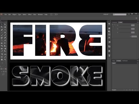 How to Fill a Shape/Text with a Photo in Adobe Illustrator