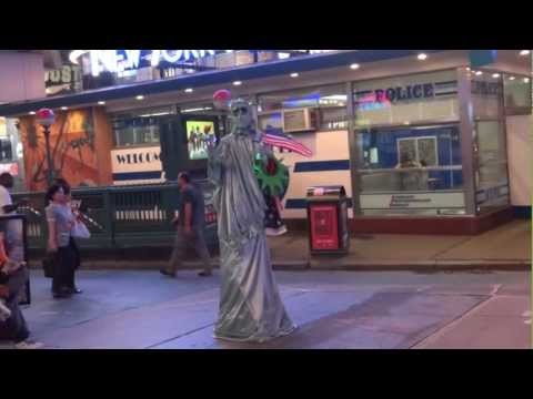 Statue of Liberty - Times Square New York City, USA [Full HD 1080p]