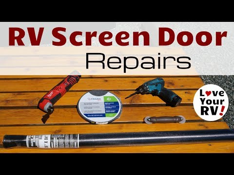RV Screen Door Cleaning and Repairs