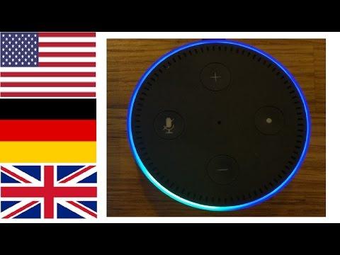 Amazon Echo - How to change Alexa's accent & Language. British, Deutsch (German) and USA.
