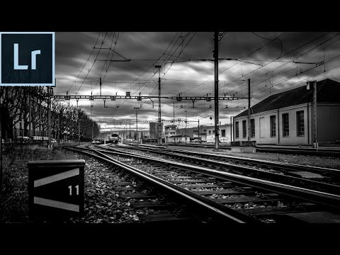 Lightroom 5/6 cc 2017 Editing Tutorial - Create Dramatic Black and White Photos in Lightroom 5/6 cc