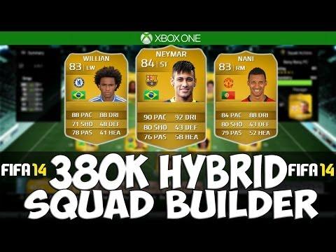 FIFA 14 Next Gen | 380K Hybrid Squad Builder Ft. Neymar and Nani