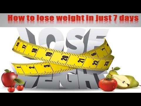 सिर्फ 7 दिनों में वज़न घटाने के नुस्खे | How To Lose Weight Fast In Just Days | U Me & Health |
