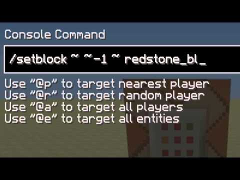 Minecraft Tutorial: How to make the fastest redstone clock using command blocks