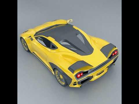 3D Model of Waspero supercar concept