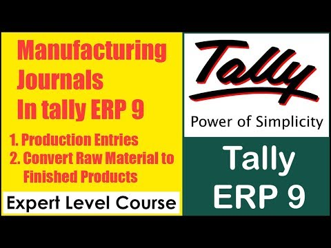 How to Pass Manufacturing Journal Entries in Tally ERP 9 | Convert Raw Material To Finished Stock