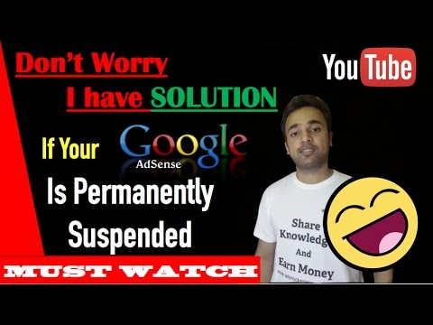 [Solution] My AdSense account is Permanently suspended - Youtube SEO Guide