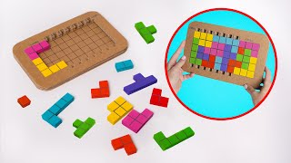 Two Awesome Puzzle Games From Cardboard || DIY Tetris and Pinko Games