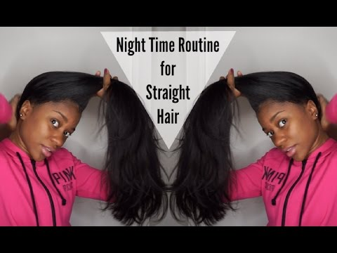 straightTalk Series: Night Time Routine for Straight Hair