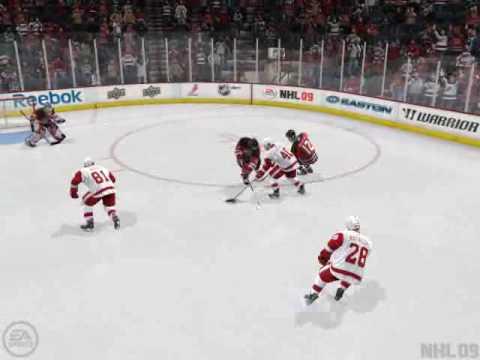 NHL 09 Zetterberg Dangle and Snipe