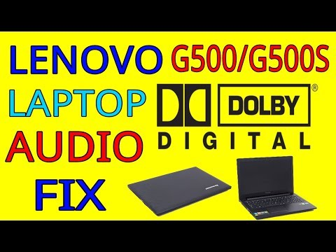 Lenovo G500/G500s Series Laptop Dolby Audio Only At Startup FIX
