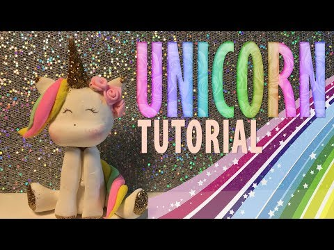 HOW TO MAKE UNICORN TUTORIAL  | CAKE TOPPER | CLAY CRAFT  DIY | CLAY FIGURE | Cup n Cakes Gourmet
