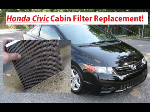 Honda Civic Cabin Air Filter Replacement and Location 2006 - 2011. Honda Civic Cabin Filter Install