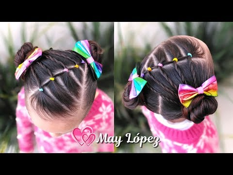 Peinado Para Ninas Con Ligas Y Chongos Peinados Faciles May Lopez