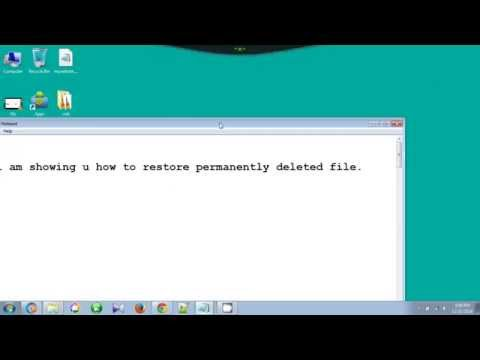 How To Restore Permanently Deleted Files in Windows 7 Without any Software For Free