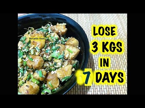 How to Lose Weight Fast  / Lose 3kg in 7 Days / Wheat Sprouts & Soya Chunks Recipe in Hindi