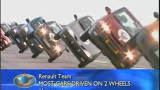 Most cars driven on two wheels
