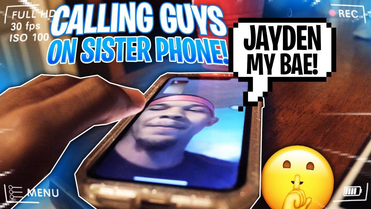SECRETLY FACETIMED GUYS IN ALL OF MY SISTERS PHONES   JAYDEN HAS A BAE!😱