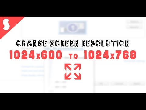 FIX Notebook Screen Resolution |  1024x600 to 1024x768 | Windows 7/8/10