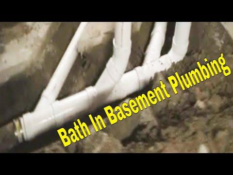 Bath In Basement Install Layout