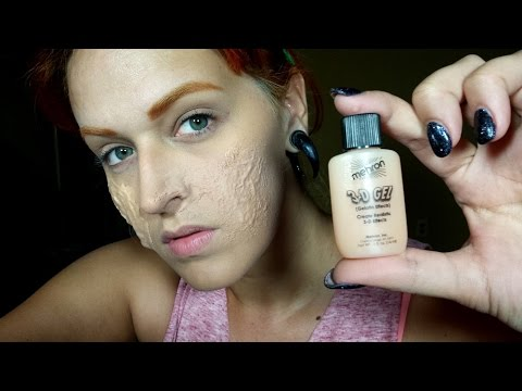 Mehron 3D Gel and How to Make Gelatin for Zombie Makeup at Home