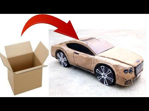 how to make a car || Bentley Continental GT,  make with cardboard, luxury super car design, diy car
