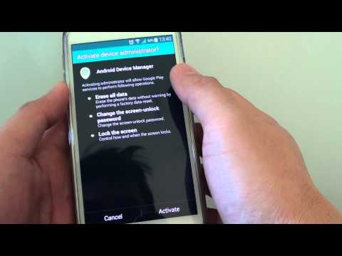 Samsung Galaxy S5: How to Enable/Disable Android Device Manager
