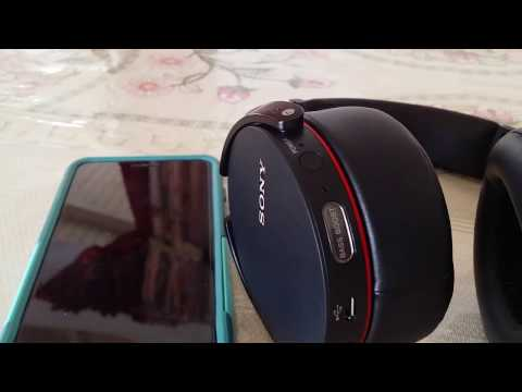 How to pair SONY MDR-XB950bt bluetooth headset to Iphone 7