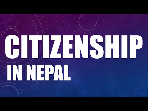 Citizenship - Constitution Of Nepal 2072 (2015)