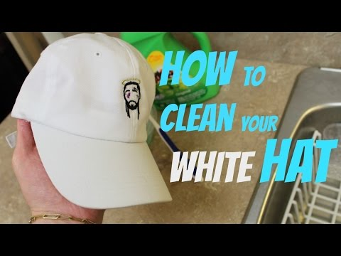 HOW TO CLEAN YOUR WHITE HAT
