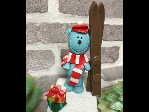 Quick and easy figurine modelling fondant teddy bear