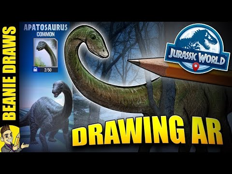Apatosaurs In the REAL world - How to Draw Jurassic World Alive Edition